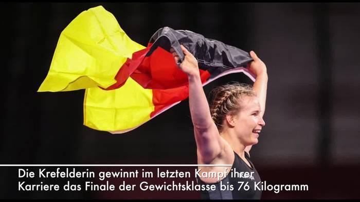 News video: Deutschland holt historisches Gold im Frauen-Ringen