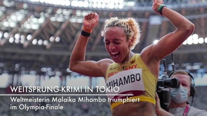 News video: Olympia: Deutscher Weitsprung-Star Mihambo holt Gold