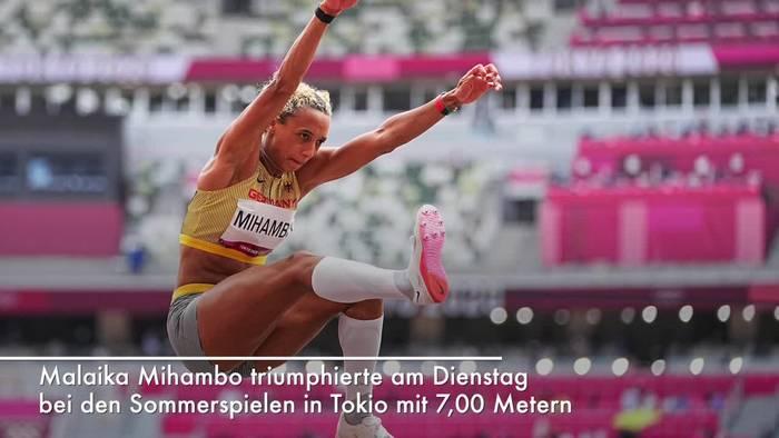 News video: Olympiasiegerin Malaika Mihambo: «Überwältigt und happy»