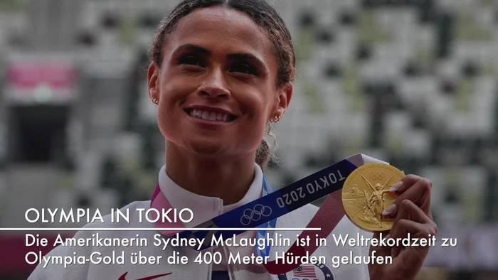 News video: Amerikanerin knackt Weltrekord über 400 Meter Hürden