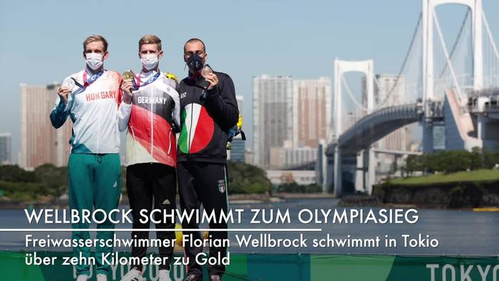 News video: «Gigantisches Rennen»: Wellbrock schwimmt zum Olympiasieg