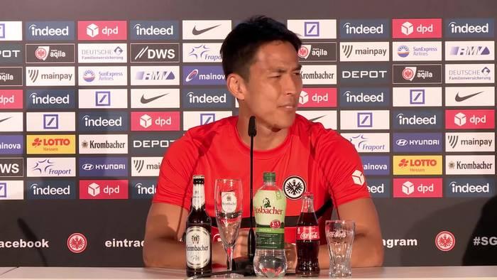 """Video: Frankfurts Vizekapitän Makoto Hasebe: """"Wir können über die Champions League sprechen"""""""