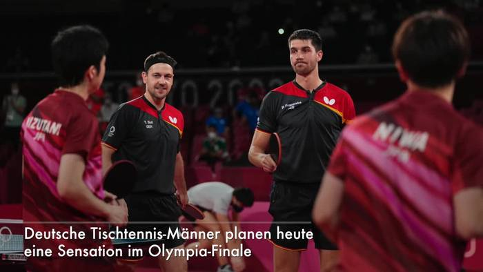News video: Tischtennis-Männer hoffen auf Olympia-Sensation