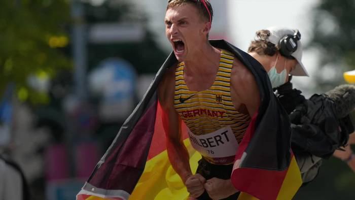 News video: Deutscher Silber-Geher Hilbert schafft Olympia-Sensation