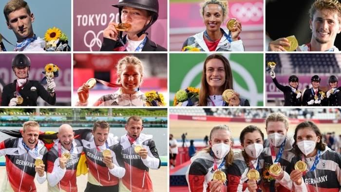 Video: Zehnmal Gold: Das sind die deutschen Olympiasieger