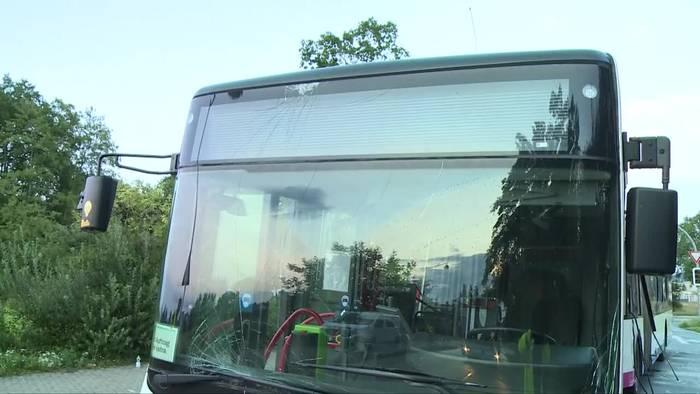 News video: Lkw prallt in Linienbus: Eine Tote, 19 Verletzte