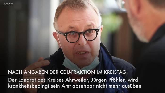 Video: Ahrweilers Landrat übt Amt absehbar nicht mehr aus