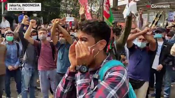 Video: Afghanen protestieren in Indonesien
