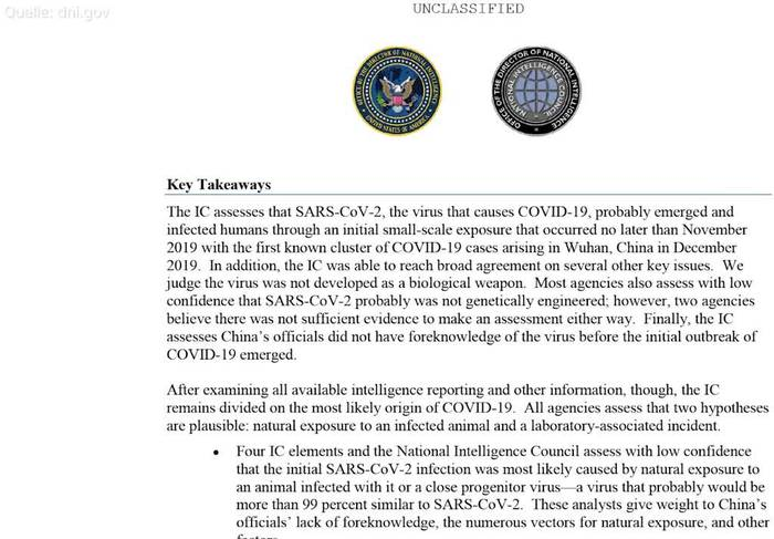 News video: US-Geheimdienste: Ursprung des Coronavirus unklar
