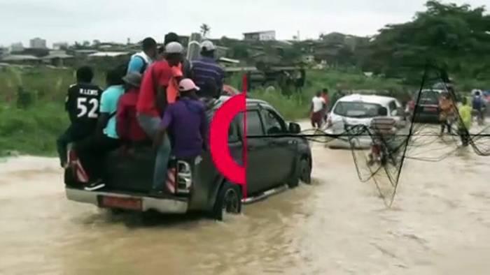Video: Heftige Überschwemmungen in Kameruns Millionenstadt Douala