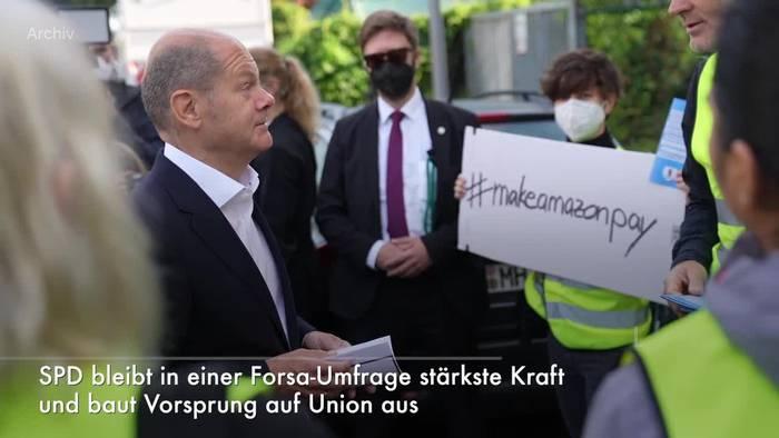 Video: SPD bleibt in Forsa-Umfrage stärkste Kraft