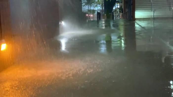 News video: Extremregen in New York: Nasseste Stunde der Geschichte
