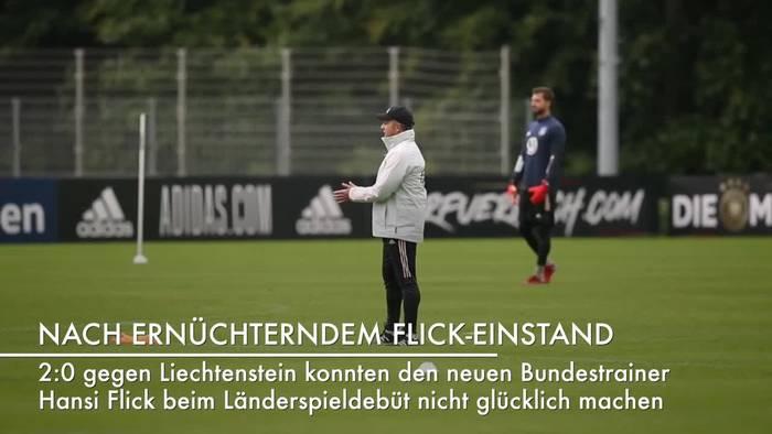 News video: Bundestrainer Flick wirbt um Verständnis
