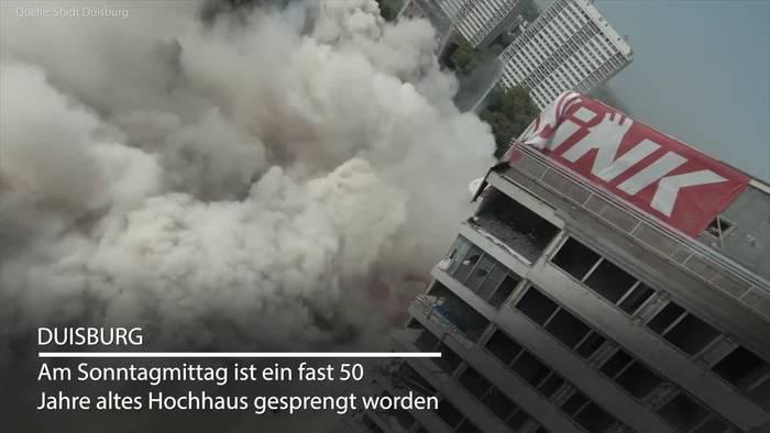 News video: «Weißer Riese» in Duisburg ohne Probleme gesprengt