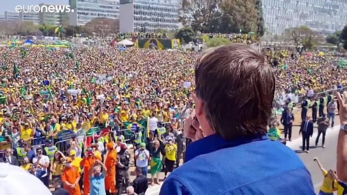 News video: Für und gegen Bolsonaro: Menschenmeere am Unabhängigkeitstag