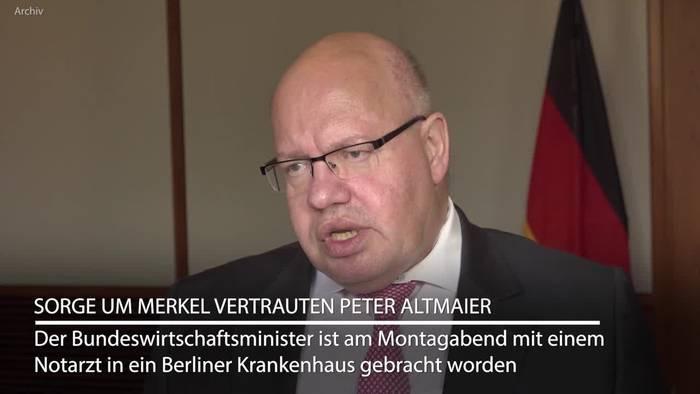 Video: Wirtschaftsminister Altmaier mit Notarzt in Klinik gebracht
