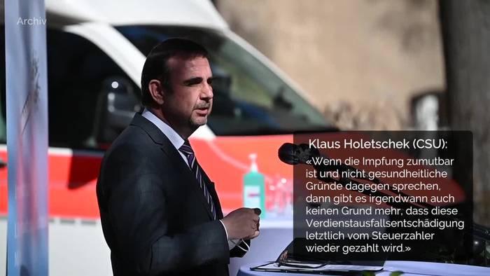 News video: Bayern plant Ende von Lohnfortzahlung für Ungeimpfte