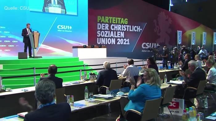 Video: CSU-Parteitag: Söder warnt vor Linksrutsch