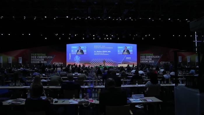 News video: Umfrage: Mit Söder als Kandidat läge Union bei 37 Prozent