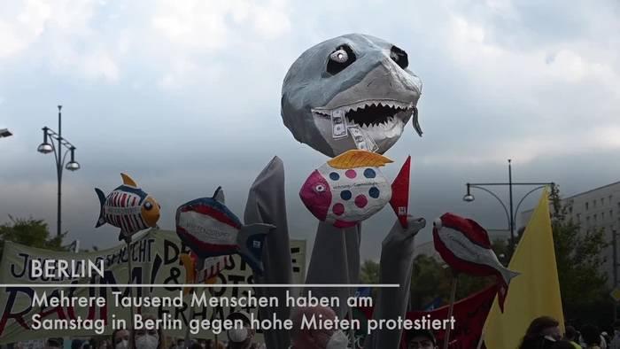 Video: Tausende bei Berliner Mietendemo