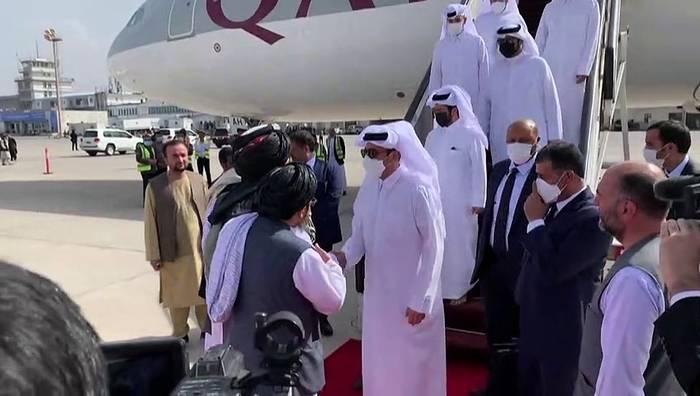 News video: Katars Außenminister besucht Taliban-Regierung in Kabul