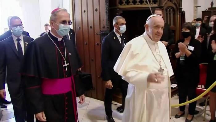 Video: Papst Franziskus in Sowakei