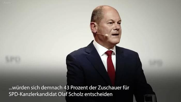News video: Zweites Triell: Scholz in Kanzlerfrage weiter vorne