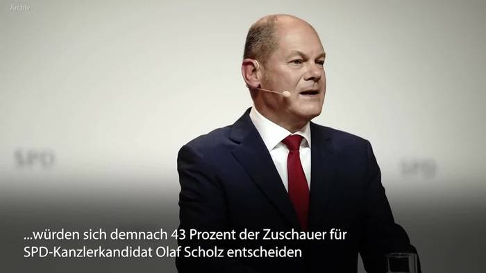 Video: Zweites Triell: Scholz in Kanzlerfrage weiter vorne