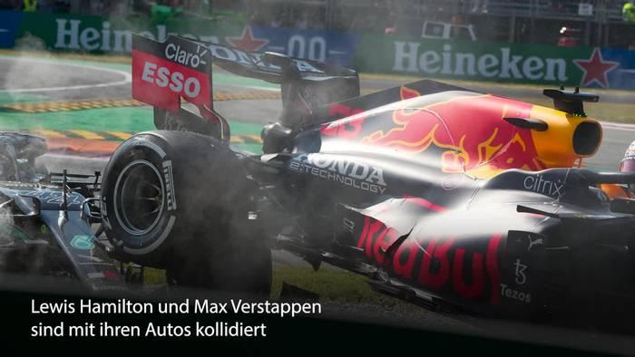 Video: Halo rettet Lewis Hamilton bei Crash das Leben