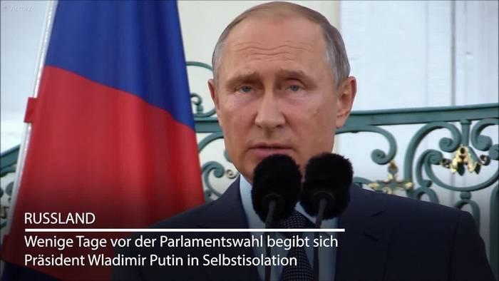 Video: Corona-Fälle im Umfeld: Putin geht in Selbstisolation