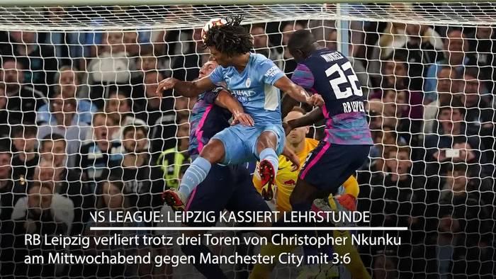 News video: Leipzig kassiert Lehrstunde bei Guardiola