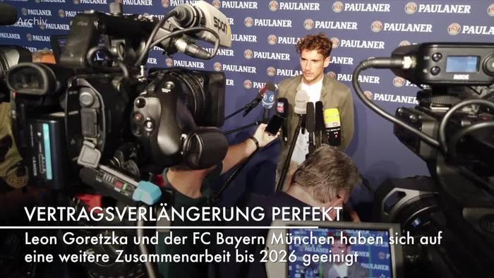 Video: Leon Goretzka verlängert bei Bayern bis 2026