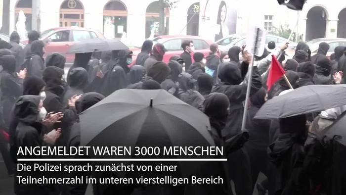 News video: Leipzig: Tausende Teilnehmer bei «Wir sind alle LinX»-Demo