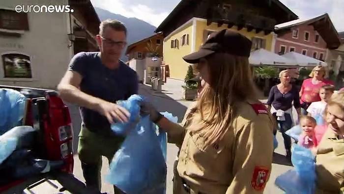 Video: Von Salzburg bis Sarajevo: Grüne Helden räumen den Müll der anderen weg