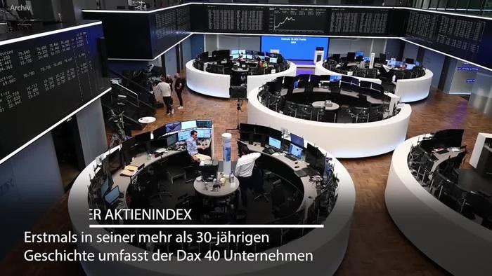 News video: Historische Reform: Dax nun mit 40 Konzernen