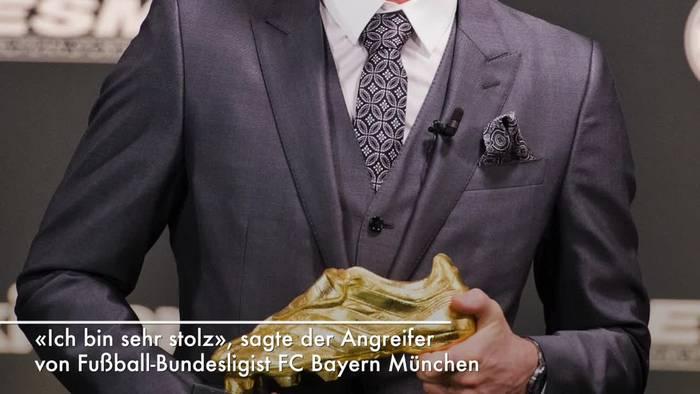 News video: Lewandowski: «Goldenen Schuh» für besten Torjäger Europas