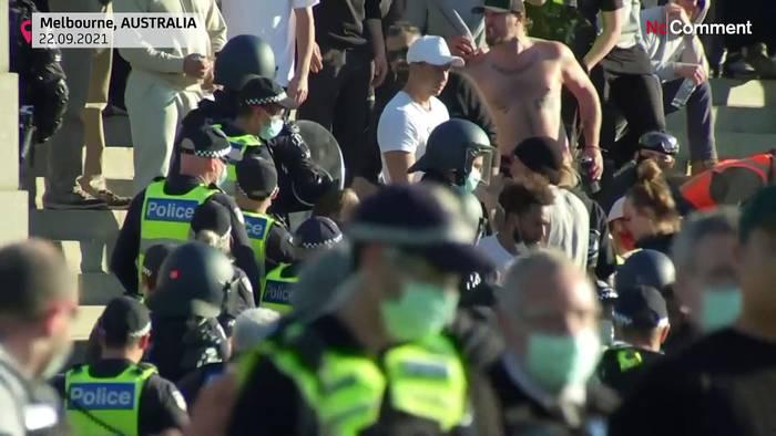 News video: Melbourne: Proteste gegen Corona-Impfpflicht und Lockdown