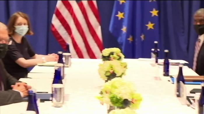 News video: Annäherung nach U-Boot-Streit: Blinken empfängt Borrell in New York