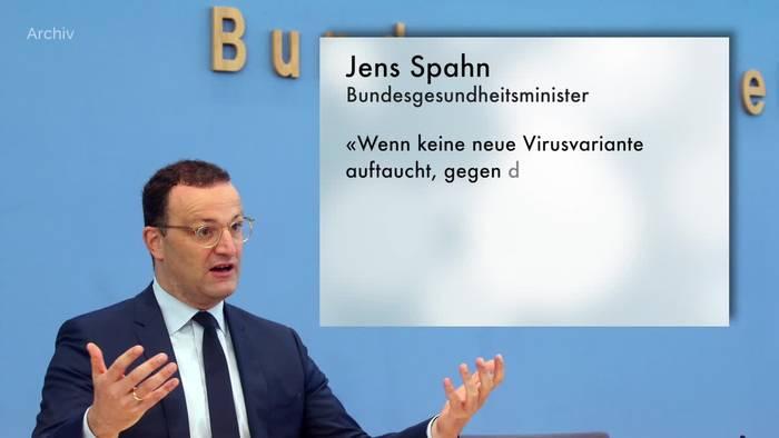News video: Spahn erwartet Pandemieende im Frühjahr 2022
