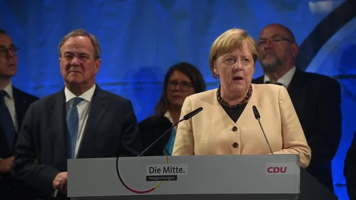 Video: Merkel und Laschet warnen gemeinsam vor Rot-Grün-Rot
