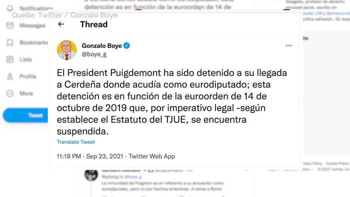 News video: Italien: Kataloniens Ex-Regierungschef Puigdemont verhaftet