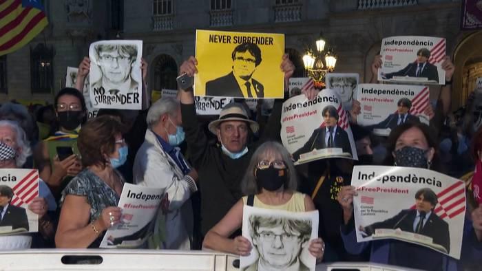 News video: Barcelona feiert Freilassung Puigdemonts