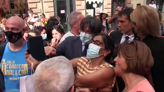 News video: Puigdemont: frei und glücklich in