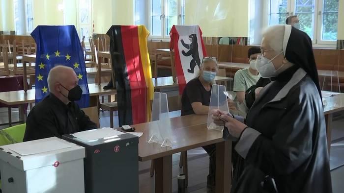 News video: Wahllokale geöffnet: Präsident Steinmeier prescht mit Appell vor