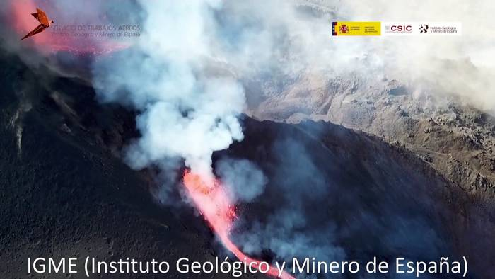 News video: Drohnenbilder zeigen die Zerstörung auf La Palma