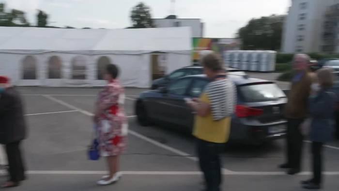 News video: Wahlen in Flutgebieten - Bürger stimmen auch in Zelten ab