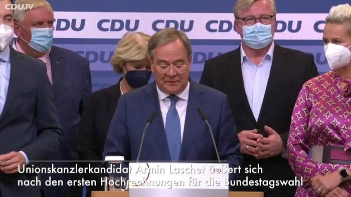 Video: Laschet will unionsgeführte Regierung bilden
