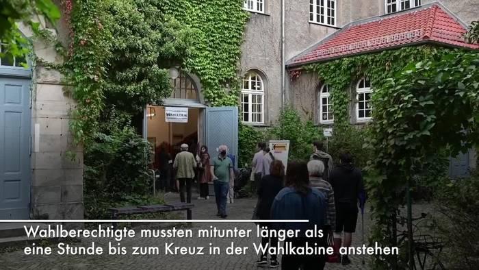 News video: Schlangen und Pannen - Wahlen in Berlin mit Hindernissen