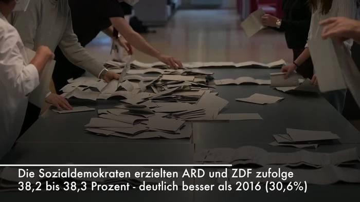 News video: Hochrechnungen: SPD siegt bei MV-Landtagswahl klar