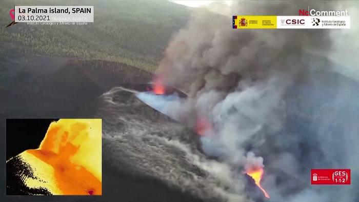 News video: La Palma: Thermalbilder zeigen Vulkanausbruch